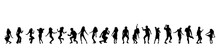 Vector Silhouette Of People