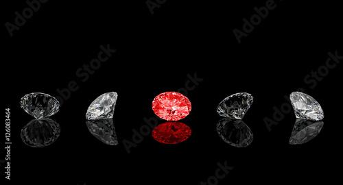 czerwony diament klasyczny krój