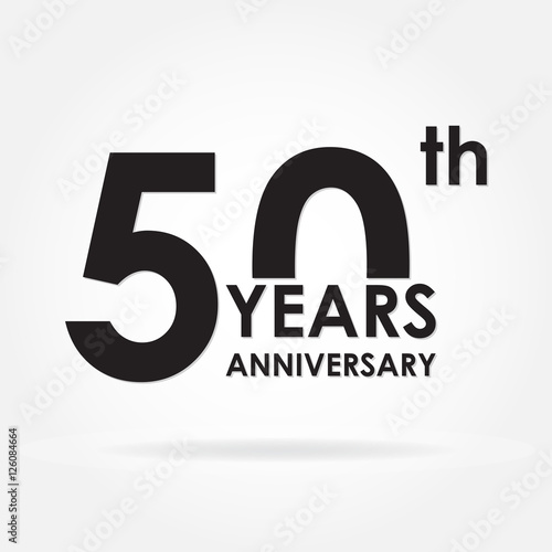 Poster  50 years anniversary sign or emblem