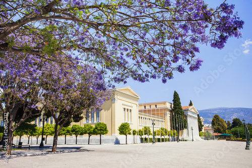 In de dag Athene Zappeion, one of the major landmarks of Athens, Greece