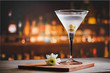 canvas print picture - Martini cocktail on counter bar.