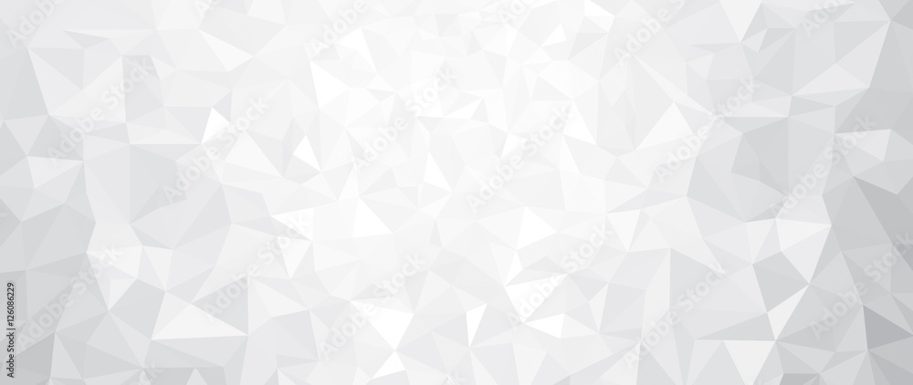 Fototapety, obrazy: Vector abstract gray, triangles background.