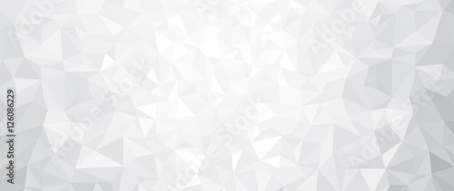 Fotografie, Obraz  Vector abstract gray, triangles background.