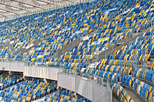 Foto op Plexiglas Stadion Tribunes of National Olympic stadium (NSC Olimpiysky) in Kiev (Kyiv), Ukraine