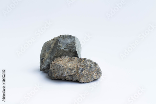 Ordinary Rocks In White Background Buy This Stock Photo And