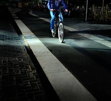 Bright Light On Bicyclist