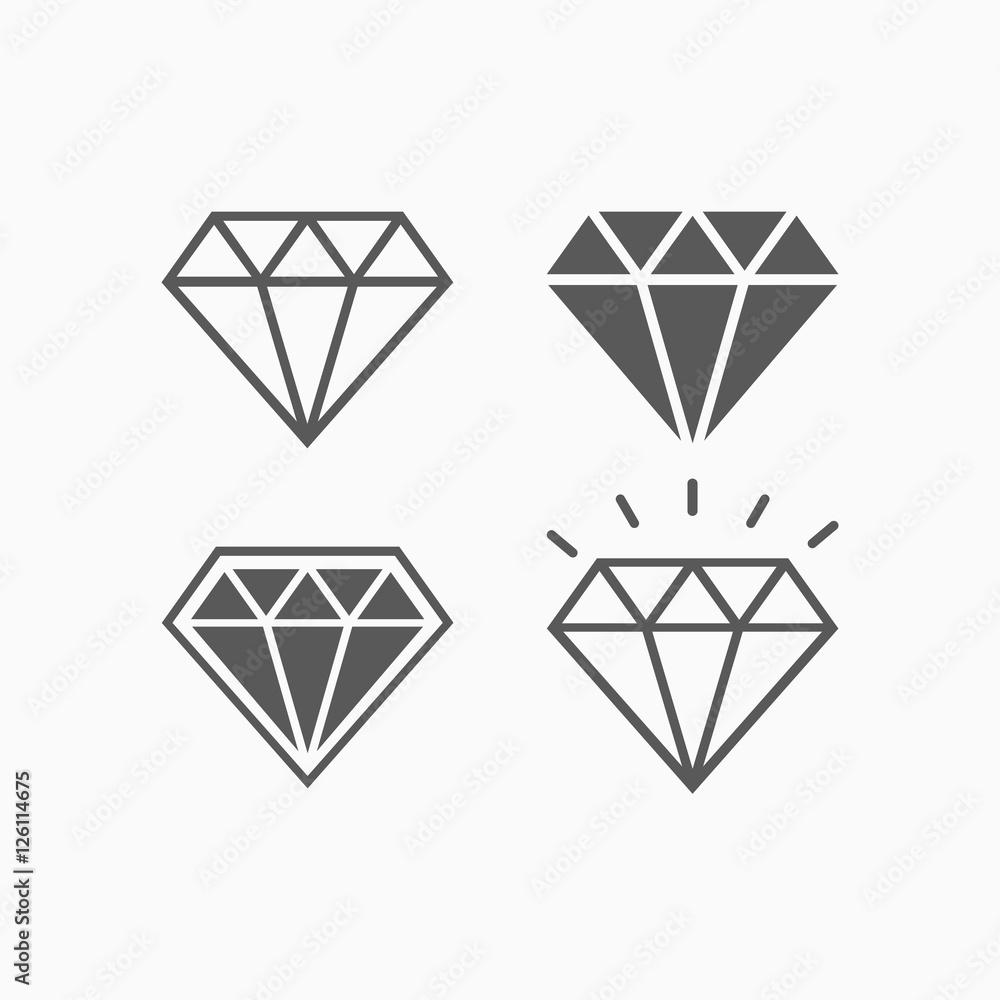 Fototapeta diamond icon