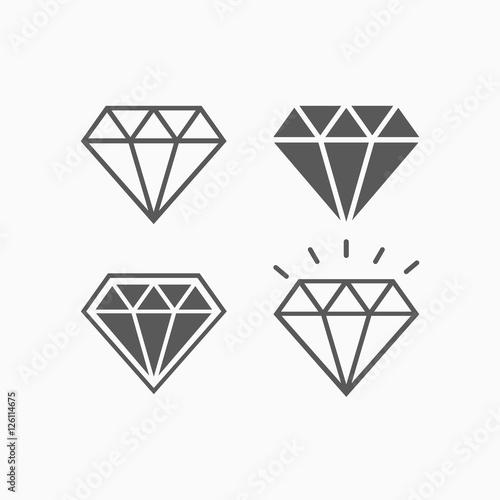 diamond icon Wallpaper Mural