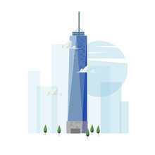 Freedom Tower Building. Famous Landmark Concept