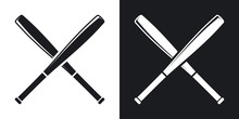 Vector Crossed Baseball Bats I...