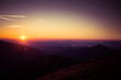 A beautiful view of the sunset in mountains