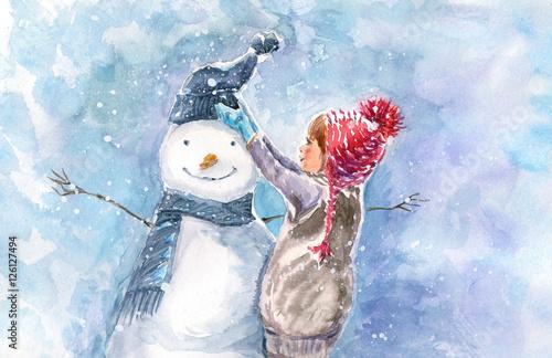 akwarela-ilustracja-zima