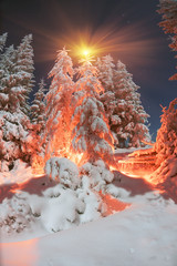 Panel Szklany Góry Winter's Tale