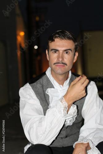 Fotografie, Obraz  Elegant gentleman with a classic old school mustache