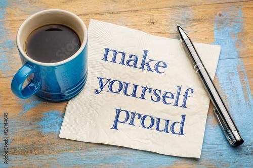 Fotografie, Obraz  Make yourself proud - napkin concept