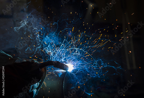 argon welding splatter Canvas Print