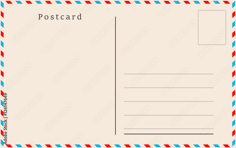Fototapeta Vintage postcard. Vector design.