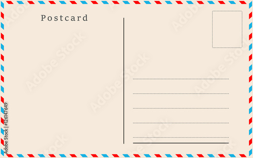 Cuadros en Lienzo Vintage postcard. Vector design.