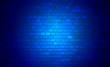Niebieska, ceglana ściana