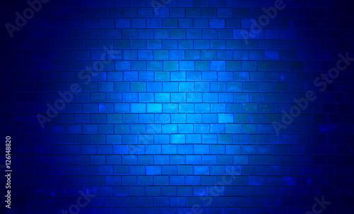 Niebieska, ceglana ściana - fototapety na wymiar