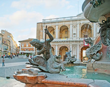 The Sculptures Of Loreto Fountain