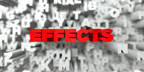 Fotografie, Obraz  EFFECTS -  Red text on typography background - 3D rendered royalty free stock image