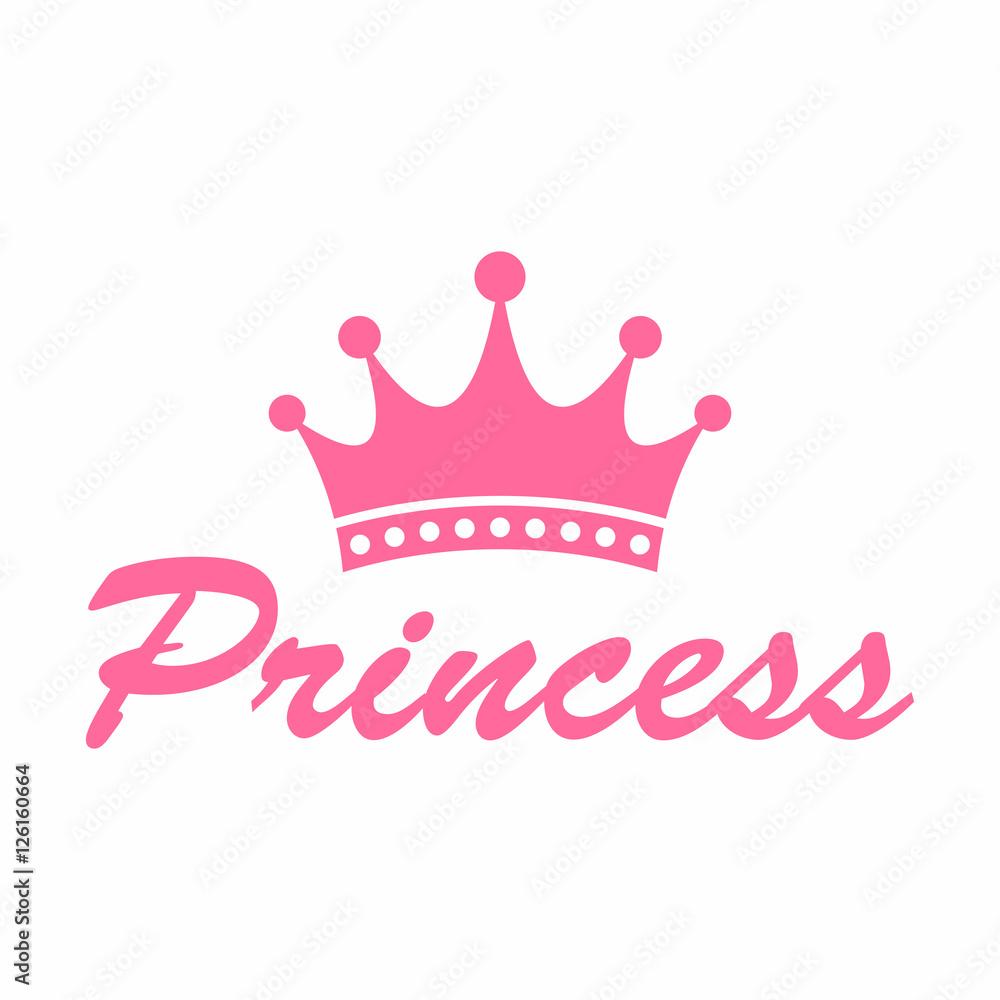Fototapeta Princess crown icon