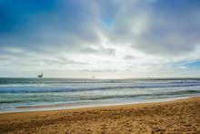 Oceanic Oil Rigs Off The Beach...