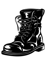 Black Army Boot