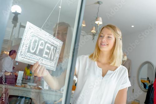 Storekeeper at her door