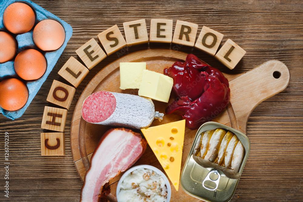 Fototapety, obrazy: High-Cholesterol Foods