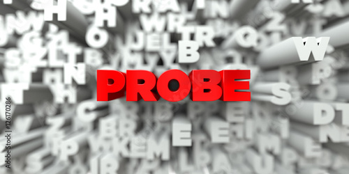Fotografie, Obraz  PROBE -  Red text on typography background - 3D rendered royalty free stock image