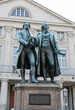 Goethe and Schiller / Monument to Goethe and Schiller before the National-theater in Weimar