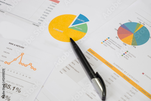 Investment planning and reporting concept Canvas Print