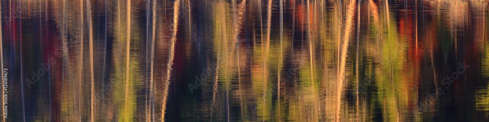 Fototapeta Panorama of fall color abstract