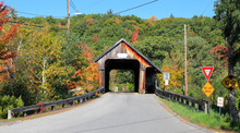 Squam River Covered Bridge In New Hampshire