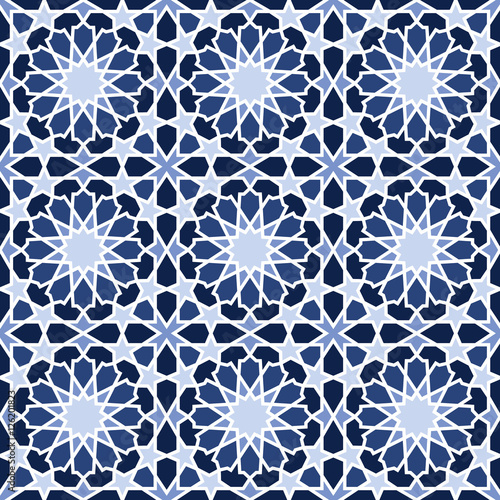 Middle Eastern style pattern in blue