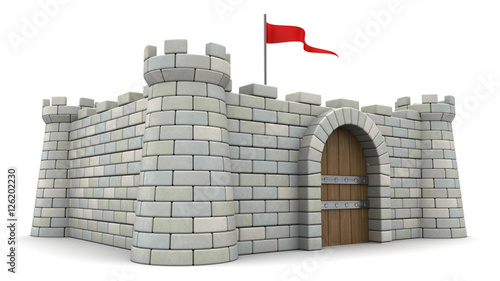 Leinwand Poster 3d fortress