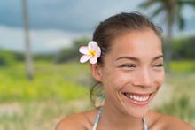 Hawaii Asian Girl Wearing Plum...