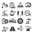 auto service icons, garage icons