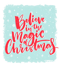 Christmas Card Design. Believe...