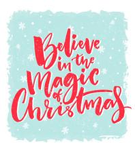 Christmas Card Design. Believe...