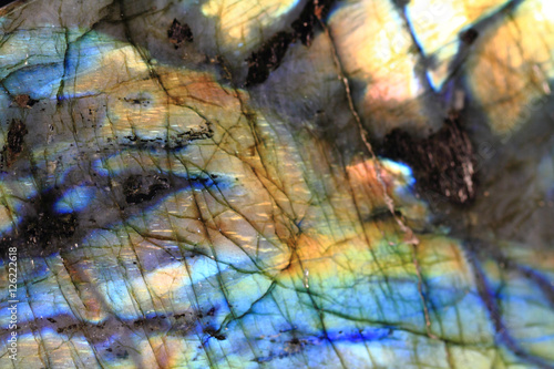 Deurstickers Texturen labradorite mineral background