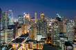 Makati Skyline at night. Makati is a city in the Philippines` Metro Manila region and the country`s financial hub.