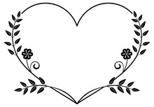 Heart-shaped Black And White F...