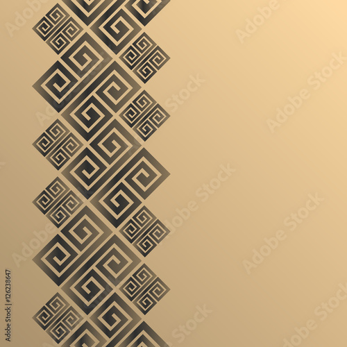 Vector geometric background greek style Canvas Print