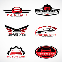 Red And Black Car Wings Logo F...