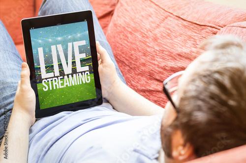 Fotografie, Obraz  hipster live streaming