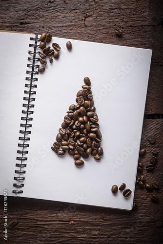 Wall Murals Coffee beans Caffee beans christmass tree