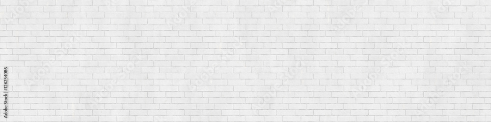 Fototapety, obrazy: Background texture of white brick wall